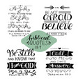hand lettering collection number 1 with 4 bible vector image vector image