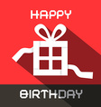 Happy Birthday Card with Paper Gift Box vector image vector image