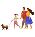 happy family holding each other s hand hugging vector image