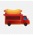 hot dog truck icon cartoon style vector image vector image