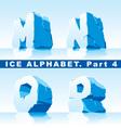 ice alpfabet part 4 vector image vector image
