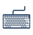 keyboard keypad computer icon vector image