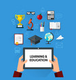 learning and education concept vector image
