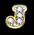 letter j gold and diamond