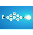 Light bulb idea with chemistry and science icon vector image vector image