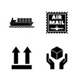 logistics delivery shipping simple related icons vector image vector image