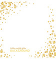 majestic glitter gold sparkling confetti on white vector image