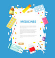 medical or pharmaceutical banner in a flat style vector image vector image