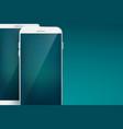 modern design concept smartphone set vector image vector image