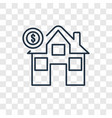 mortgage concept linear icon isolated on vector image vector image