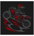 Motorcycle racer sport vector image vector image
