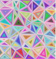 Multicolor triangle mosaic tile background design vector image vector image