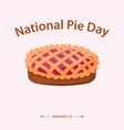 national pie day flat style vector image