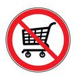 no cart sign vector image vector image