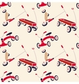 Pattern 50s Backdrop 1950s retro style vector image vector image