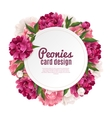 Peony Frame Card Design vector image vector image