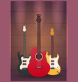 poster with musical instruments music studio vector image