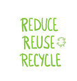 reduce reuse recycle concept design vector image