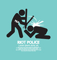 Riot Police Black Symbol Graphic vector image