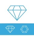 set diamond design elements vector image