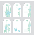 Set of floral tags Blank labels Fowers vector image vector image