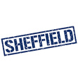 Sheffield blue square stamp vector image vector image
