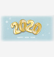 snow banner 2020 happy new year vector image vector image