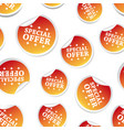 special offer sticker seamless pattern background vector image vector image