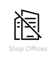 stop offices protection measures icon editable vector image vector image