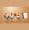 successful team gathering group of young people vector image vector image