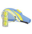 tennis racket tennis ball sport equipment vector image