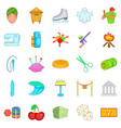 theatrical icons set cartoon style vector image vector image