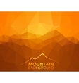 Triangle geometrical background with mountains vector image vector image