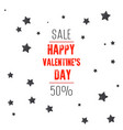valentines day sale background with stars vector image vector image
