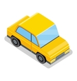 Yellow Car Icon vector image vector image