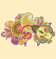 abstract colorful doodles vector image