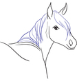 Horse with blue mane vector image