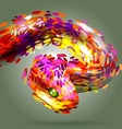 Colorful detail snake vector image