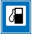 Fuel pump gas station icon vector image