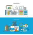 work workplace and workflow finance research vector image