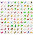 100 switzerland icons set isometric 3d style vector image vector image