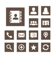 Contact icon set simplicity theme vector | Price: 1 Credit (USD $1)