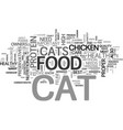 a healthy cat knows what tastes good text word vector image vector image