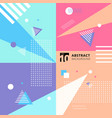 abstract colorful geometric pattern style vector image vector image
