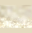 abstract luxury golden light glittering blurred vector image vector image