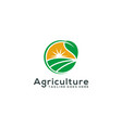 agriculture logo template design vector image vector image