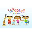 art classes for kids logo creative artistic school vector image
