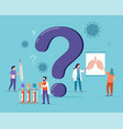 ask doctor a group female and male doctors vector image