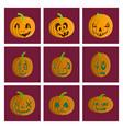 assembly flat halloween pumpkin vector image vector image