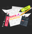back to school supplies realistic vector image vector image